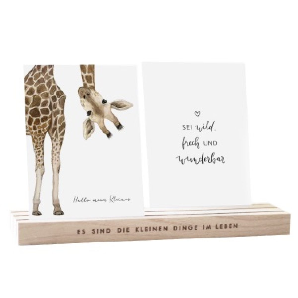 Kartenständer 25cm Natur aus Holz Eulenschnitt My Home and More
