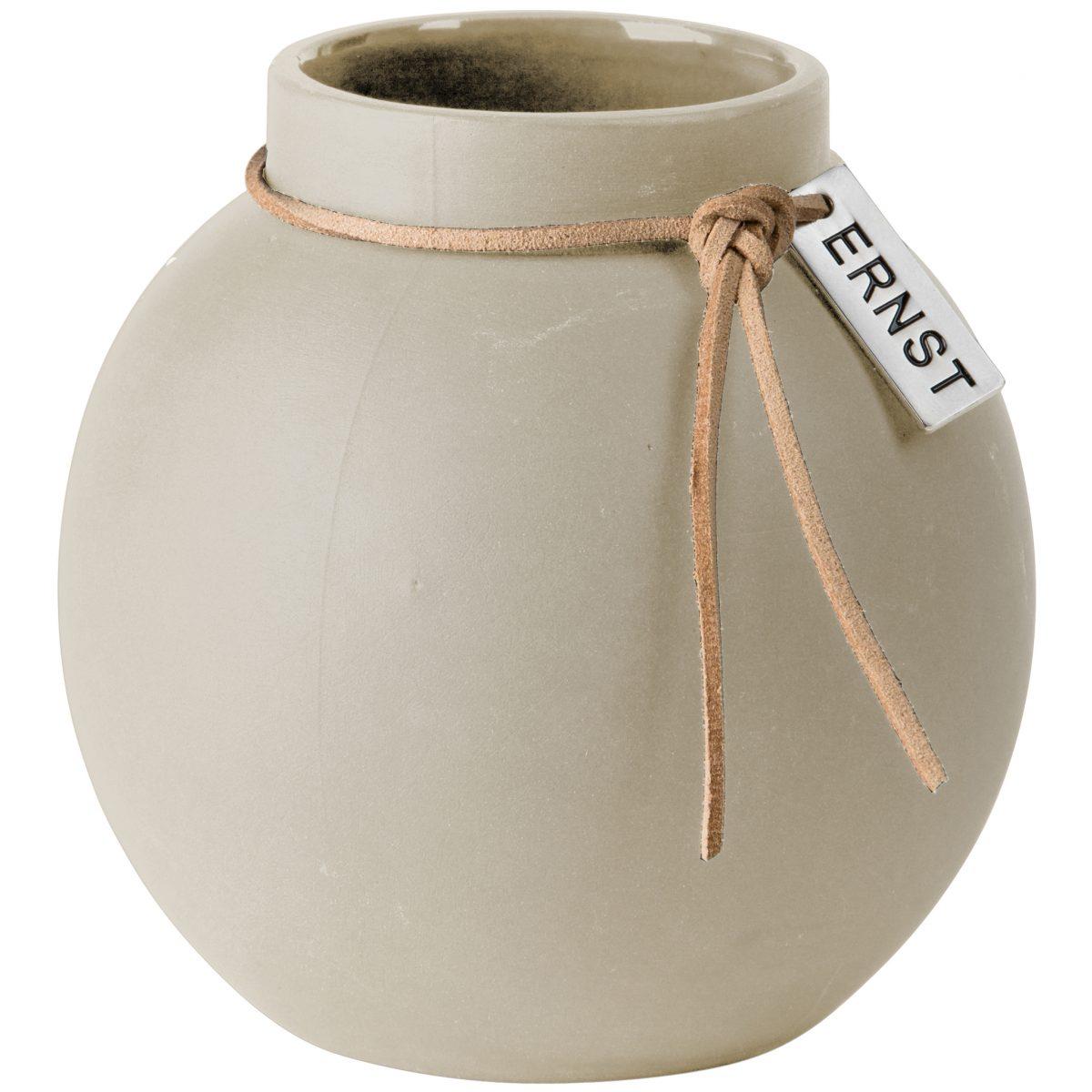 Vase Steingut rund ø 10 cm beige - ERNST My Home and More
