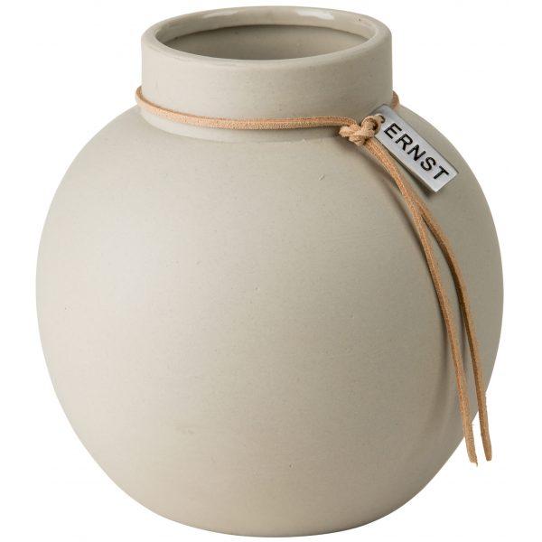 Vase Steingut rund ø 14 cm beige - ERNST My Home and More