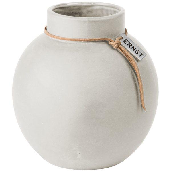 Vase Steingut rund ø 14 cm weiß - ERNST My Home and More