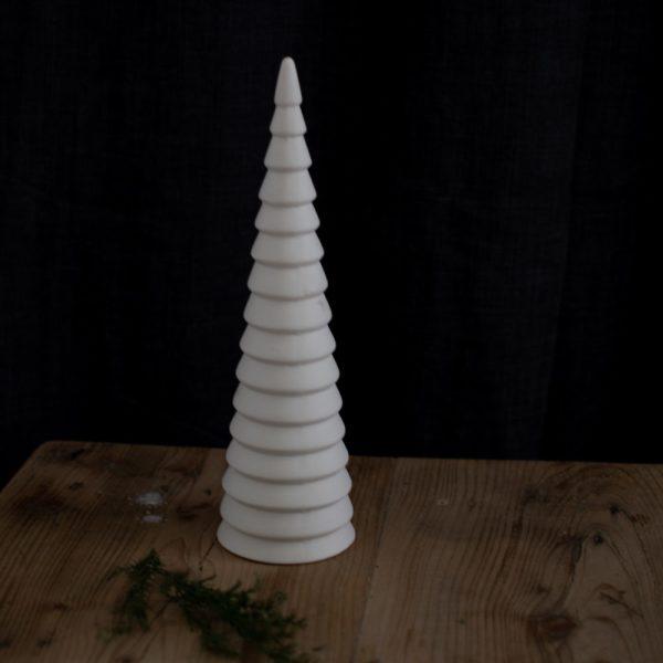 Weißer Glasweihnachtsbaum