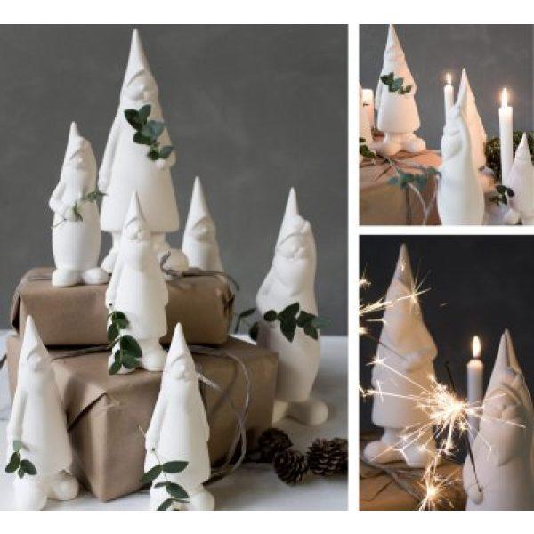 Weiße Glasweihnachtsmänner