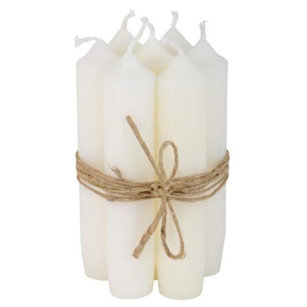 Weiße Kerzen zusammengebunden