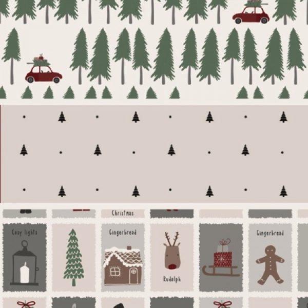 Serviette mit Weihnachtsmuster