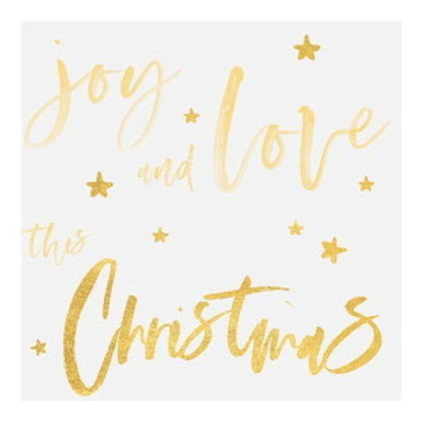 """Servietten Schriftzug """"joy and love this christmas"""""""