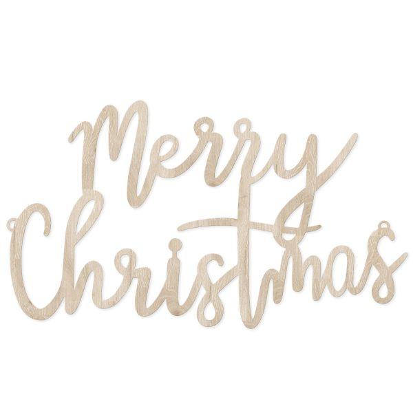 "Holzzeichen ""Merry Christmas"""