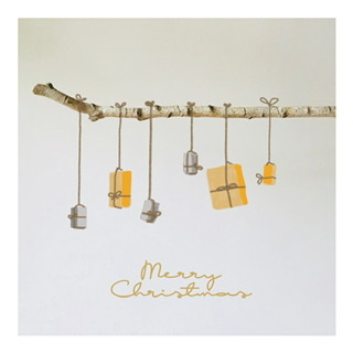 "Postkarte ""Merry Christmas"" mit Geschenken"