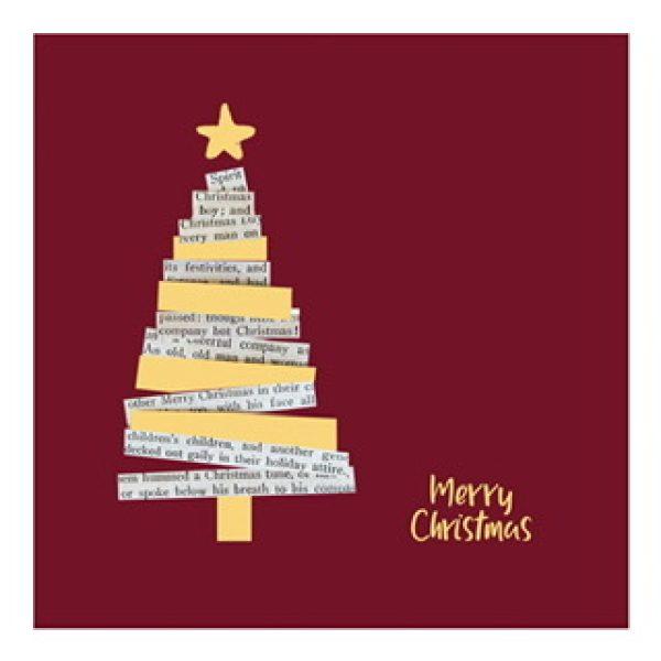 """Postkarte """"Merry Christmas"""" mit Weihnachtsbaum"""