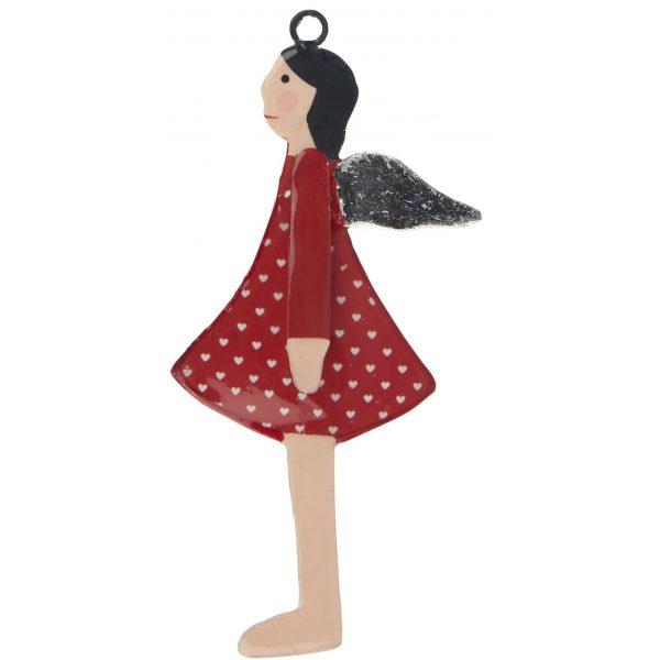 Engel Anhänger im roten Kleid