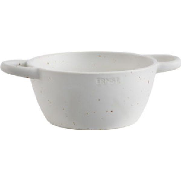 Sieb aus Keramik weiß klein - ERNST