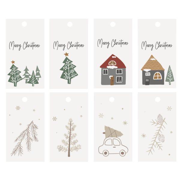 Geschenkanhänger 8er Set Weihnachten beige/grau IB Laursen www.myhomeandmore.de