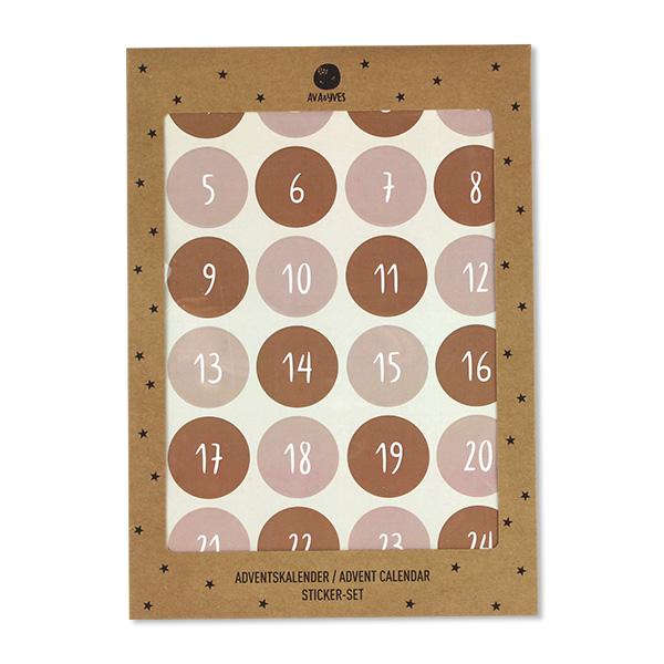 Adventskalender-Sticker, rose/rost ava&yves