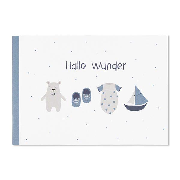 Erinnerungsbuch Hallo Wunder puderblau ava&yves www.myhomeandmore.de