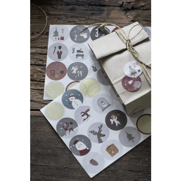 Blatt mit 24 Weihnachtsaufkleber IB Laursen www.myhomeandmore.de